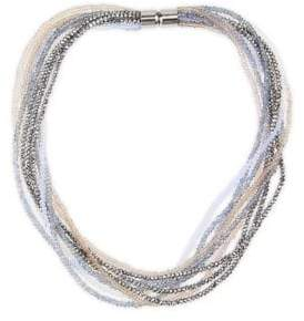 Saachi Multi-Strand Crystal Beaded Necklace