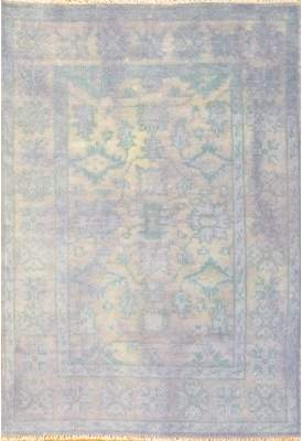 Blue Area Pasargad NY Overdyed Hand-Woven Wool Rug