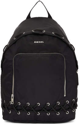 Diesel Black F-Surpass Lace-Up Backpack