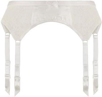 Katherine Hamilton Sophia Ivory Lace Suspender Belt