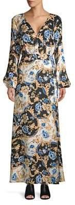 Miss Selfridge Chain-Print Maxi Dress
