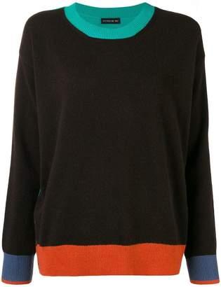 Etro contrast detail knit jumper