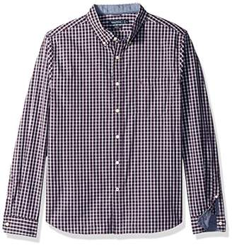 Nautica Men's Long Sleeve Plaid Button Down Shirt