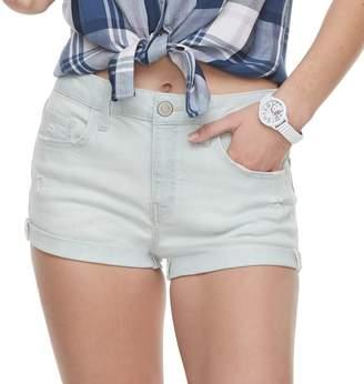 So Juniors' SO High Rise Cuffed Jean Shorts