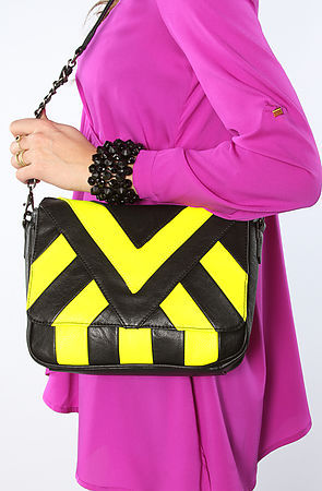 Melie Bianco The Nita Bag in Neon Magenta