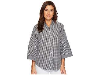 Lauren Ralph Lauren Gingham Bell-Sleeve Shirt Women's Clothing
