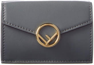 Fendi Tri Fold Leather Wallet