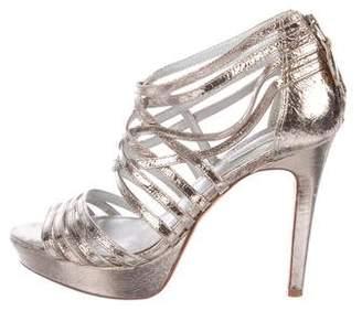 Pour La Victoire Metallic Multistrap sandals