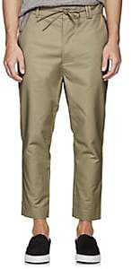 Chapter MEN'S STRETCH-COTTON DRAWSTRING TROUSERS-OLIVE SIZE 32