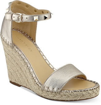 Marc Fisher Kicker Two-Piece Wedge Sandals Women's Shoes $89 thestylecure.com