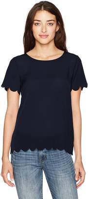 French Connection Women's Classic Crepe Light Top