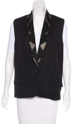 IRO Embellished Longline Vest