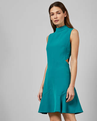 Ted Baker CORMIER Cut out fluted shift dress