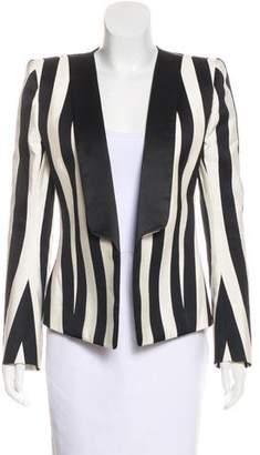 Balmain Striped Structured Jacket