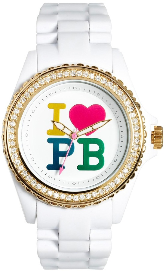 Paul's Boutique White Ladies Watch With Logo Dial