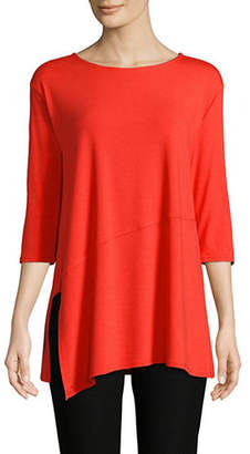 Eileen Fisher Asymetric Jersey Tee