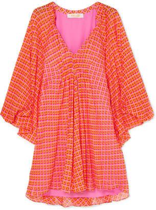 Diane von Furstenberg Fleurette Printed Silk-crepon Mini Dress - Pink