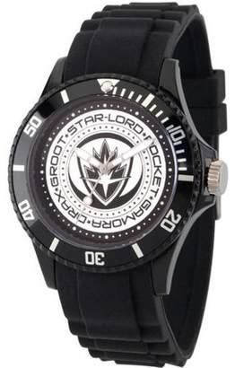 Marvel Guardians of the Galaxy Vol 2 Unisex Black Plastic Watch, Black Bezel, Black Plastic Strap