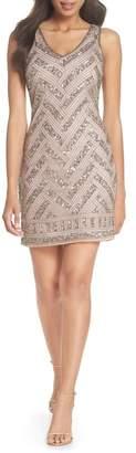 Pisarro Nights Beaded V-Neck Sheath Dress (Regular & Petite)