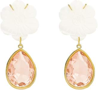 Lizzie Fortunato Lily Pad Drop Earrings