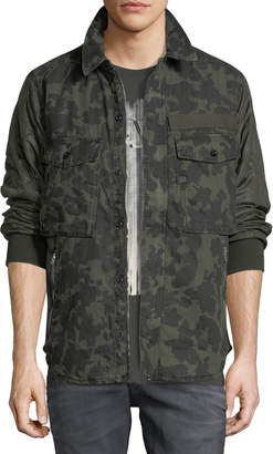 G Star Type C Camouflage-Print Over-Shirt Jacket