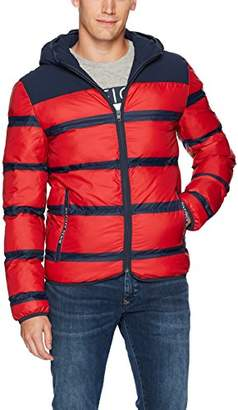 Tommy Hilfiger Tommy Jeans Men's Puffer Jacket with Stripes