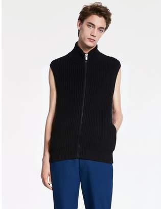 Calvin Klein extra fine wool zip vest