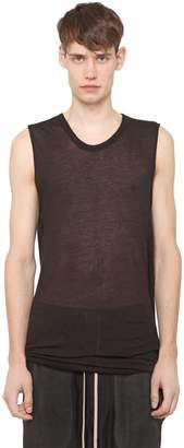 Rick Owens Cotton Jersey Sleeveless T-Shirt
