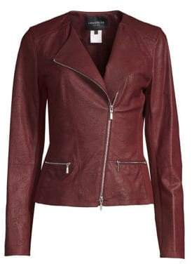 Lafayette 148 New York Leather Moto Jacket