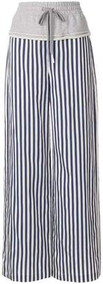 Alexander Wang striped combo palazzo pants