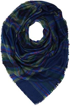 Lee Women's CHECK SCARF NAVY DARKNESS Scarf, Blue (NAVY DARKNESS), (Manufacturer size: 88)
