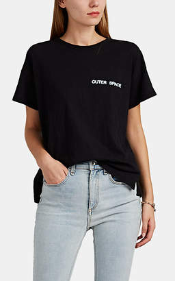 "Rag & Bone Women's ""Outer Space"" Cotton T-Shirt - Black"