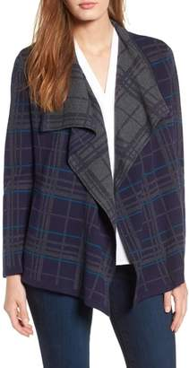 Chaus Plaid Cardigan