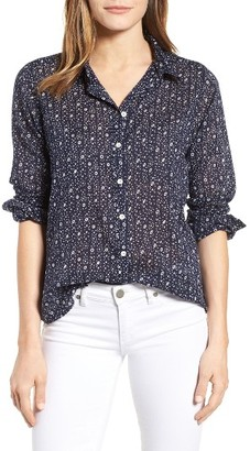 Women's Velvet By Graham & Spencer Print Cotton Shirt $128 thestylecure.com