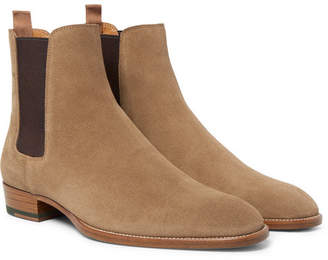 Saint Laurent Suede Chelsea Boots - Men - Tan