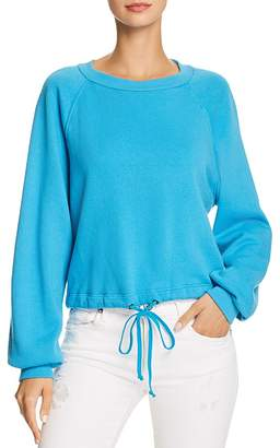 Pam & Gela Cropped Drawstring Sweatshirt - 100% Exclusive