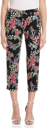 Gaudi' Gaudi Black Floral Cropped Pants