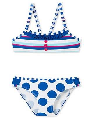 Schiesser Girl's Aqua Bustier-Bikini Swimwear Set,(Size: 0)