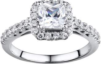 Diamonluxe DiamonLuxe Sterling Silver 2-ct. T.W. Simulated Diamond Halo Ring