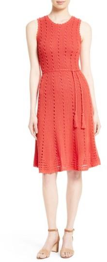 Kate SpadeWomen's Kate Spade New York Textured Knit Midi Dress