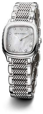 David Yurman Thoroughbred 25mm Stainless Steel Quartz with Diamond Markers