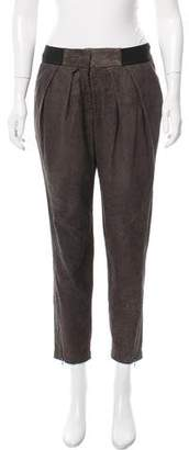 Yigal Azrouel Mid-Rise Leather Pants w/ Tags