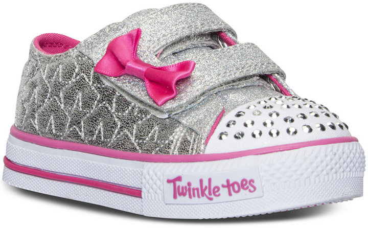 Skechers Toddler Girls' Twinkle Toes: Shuffles - Starlight Light-Up Sneakers from Finish Line