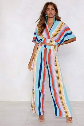 Nasty Gal End of the Rainbow Wide-Leg Pants