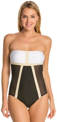 Luxe by Lisa Vogel Mrs. Bond Bandeau Maillot 7537988 $96.94 thestylecure.com