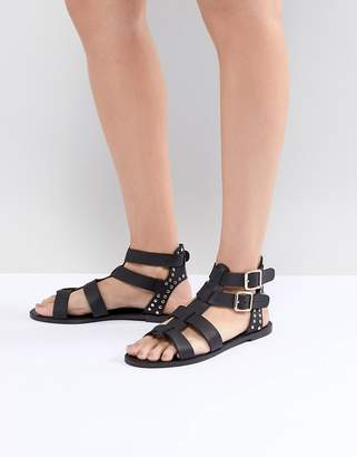 New Look Leather Look Gladiator Flat Sandal