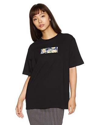 WEGO (ウィゴー) - [ウィゴー] Tシャツ ボタニカルBOXロゴプリントT レディース ブラック 日本 F (Free サイズ)