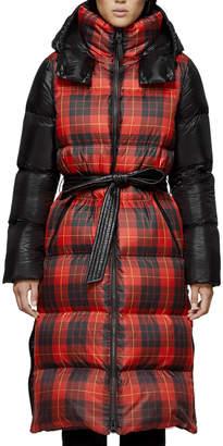 Mackage Haiko Buffalo Plaid Long Puffer Coat