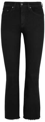 Rag & Bone Black Kick-flare Jeans