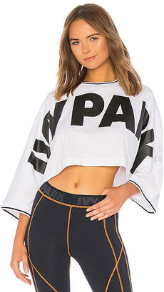 Ivy Park Cropped Oversized Logo Top